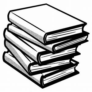 Clipart - books - lineart