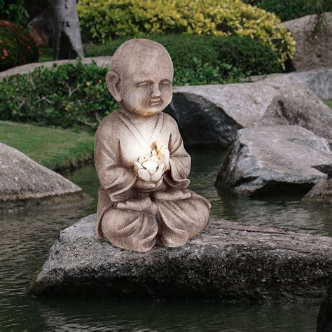 Garten Deko Asia by Led Solar Buddha Figur Le Garten Deko Asia Skulptur