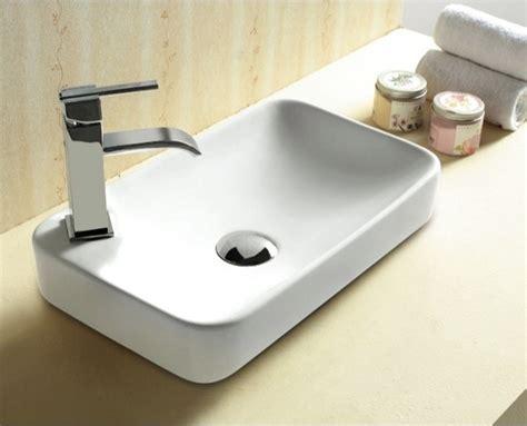 Stylish Modern Rectangular Self Rimming Bathroom Sink By