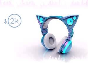 headphones with cat ears axent wear cat ear headphones indiegogo