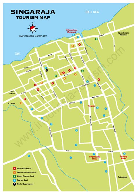 detail singaraja location map  travelers guide bali