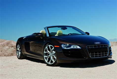 Wallpaper Audi R8 Spyder, Audi, Black, Sports Car, Luxury