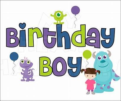 Monsters Birthday Inc Boy Clipart Clip Happy