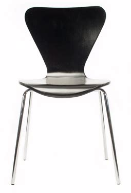 retro bent plywood dining chair black