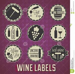 collection of wine badges and labels royalty free stock With classic wine labels