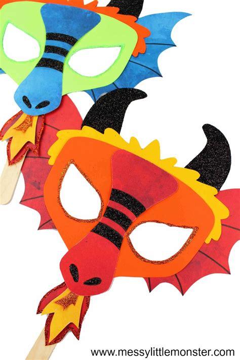 chinese dragon mask  fun printable dragon craft messy