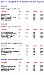 Writing For Your Health  Biceps Exercises Chart For Building Big Biceps
