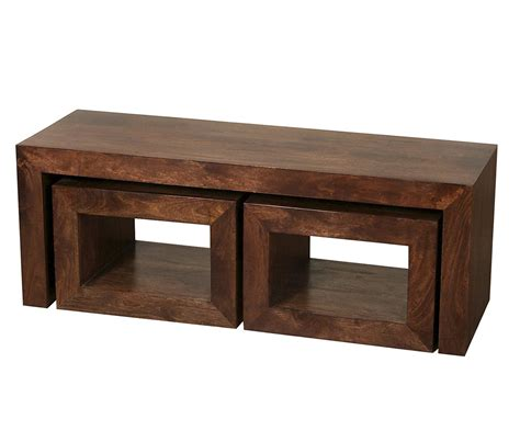 homescapes dakota coffee table with 2 cubes