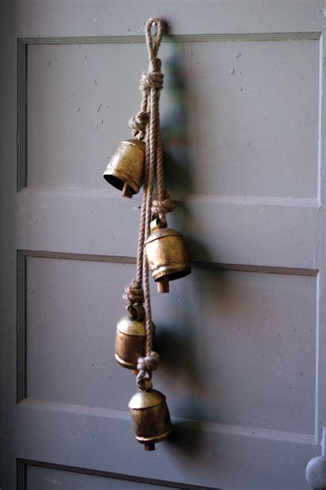 rustic iron hanging bells  rope