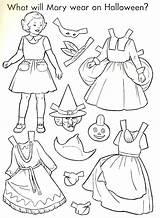 Halloween Paper Doll Dolls Coloring 1951 Printable Crafts Things Sheets Thepapercollector Collector Pages Neo sketch template