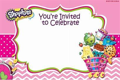 Shopkins Invitation Birthday Printable Card Invitations Template
