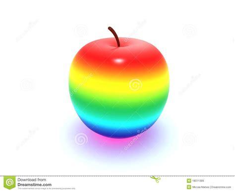 Rainbow apple stock illustration. Illustration of healthy