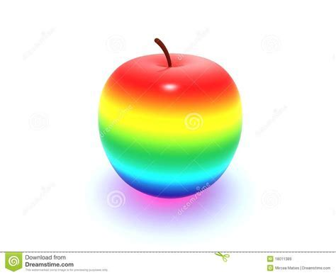 Rainbow apple stock illustration. Illustration of healthy