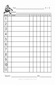 printable baseball lineup card  baseball lineup