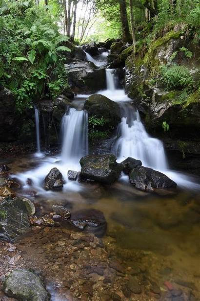 Nature Waterfall Silky Landscapes Domain