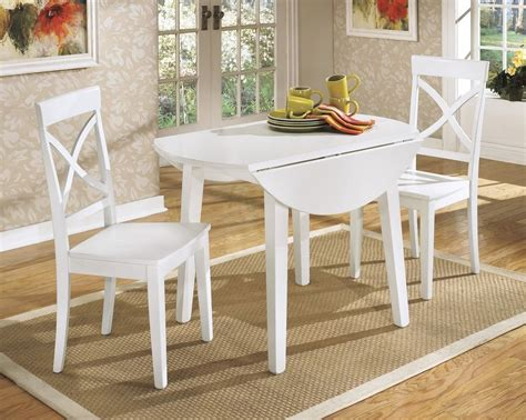 captivating white drop leaf dining table  white