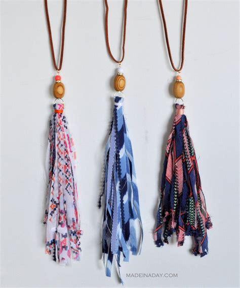 shabby fabric tassels diy fabric tassel necklaces tassel necklace tassels and shabby