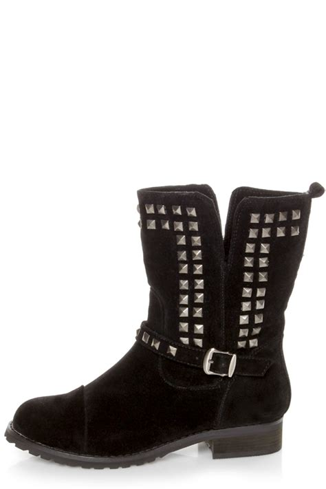 motorcycle ankle boots sale promise abigail black studded motorcycle ankle boots 48 00