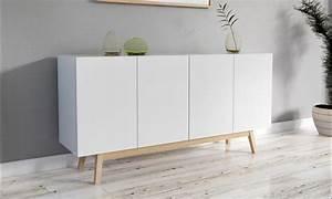 Buffet Scandinave But : bahut 4 portes 2 tiroirs groupon ~ Teatrodelosmanantiales.com Idées de Décoration