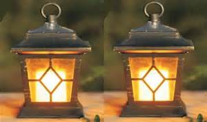 2pc solar flickering candle coach lantern outdoor ebay