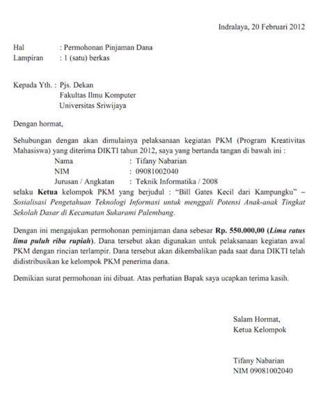contoh surat permohonan  penulisan  baik