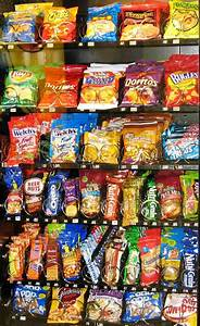 what is the shelf of vending snacks and drinks