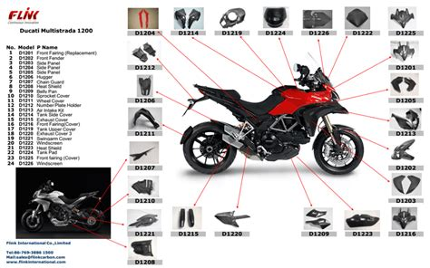 Motorcycle Carbon Fiber Parts Body Parts For Ducati