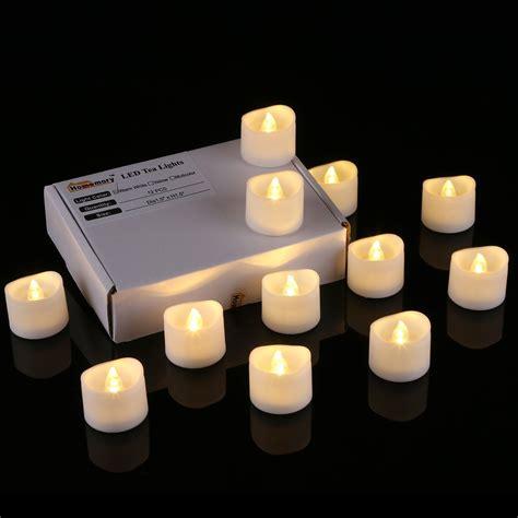 light candles 12pcs wavy led tea light candles warm white homemory Led