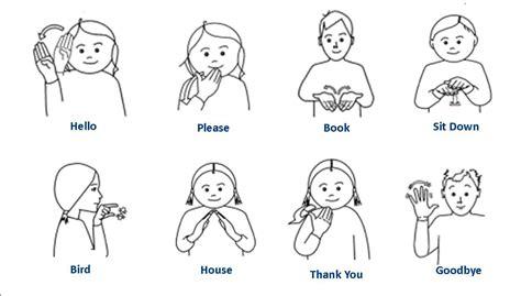 basic classroom makaton signs sign language