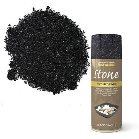 rust oleum stone black granite stone effect textured spray