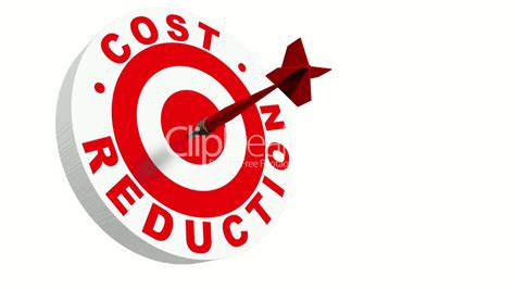 3d Dart Hitting Cost Reduction Target: Royalty-free video ...
