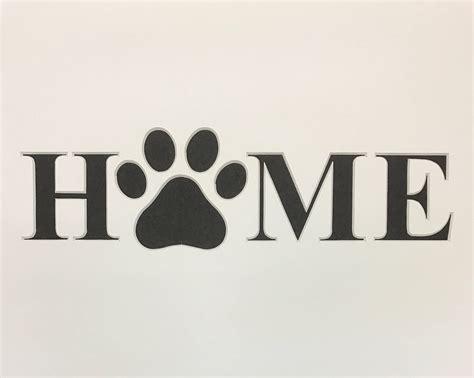 home  dog paw stencil    ply mat board