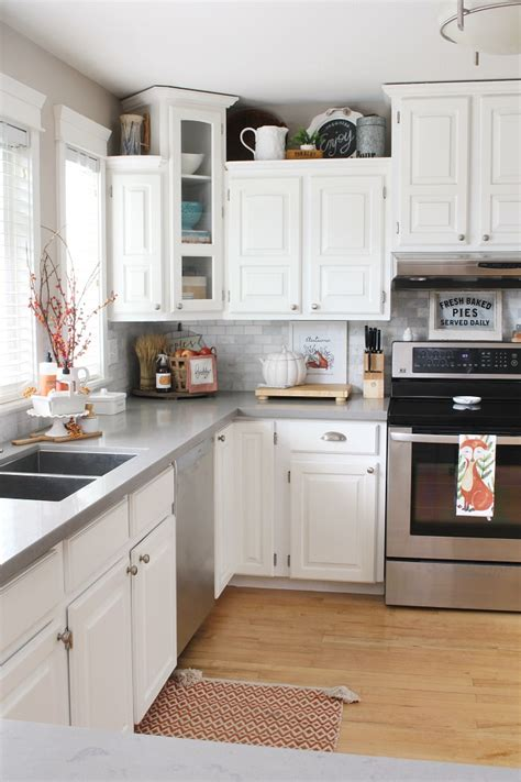 Decorated Kitchen Ideas by Fall Kitchen Decor Clean And Scentsible