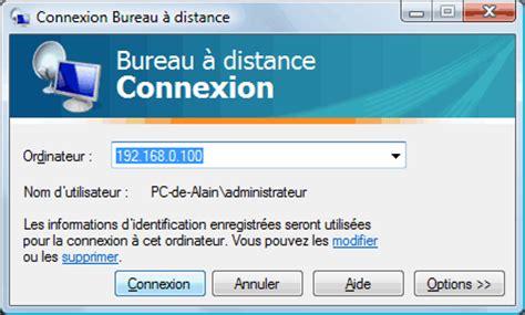 connexion bureau distance bureau à distance ou remote desktop contrôle à distance