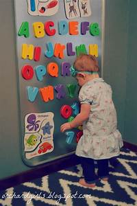 orchard girls diy oil drip pan magnet board for kids With magnetic letter board for kids