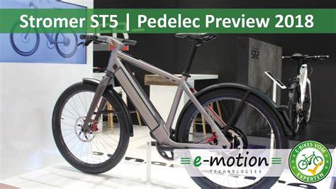 s pedelec 2018 stromer st5 e bike neuheiten 2018 pedelec preview vorschau eurobike 2017