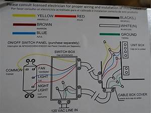 Hampton Bay Ceiling Fan Wiring Diagram