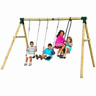 Swing Plum Swings Slides Wooden Colobus Childrens