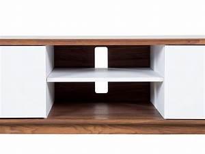 Meuble Tv Rangement : meuble de salon meuble tv 2 compartiments de rangement etag re blanc noyer ebay ~ Teatrodelosmanantiales.com Idées de Décoration