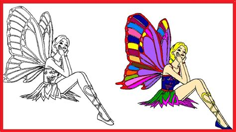 Barbie Clipart Coloring Book