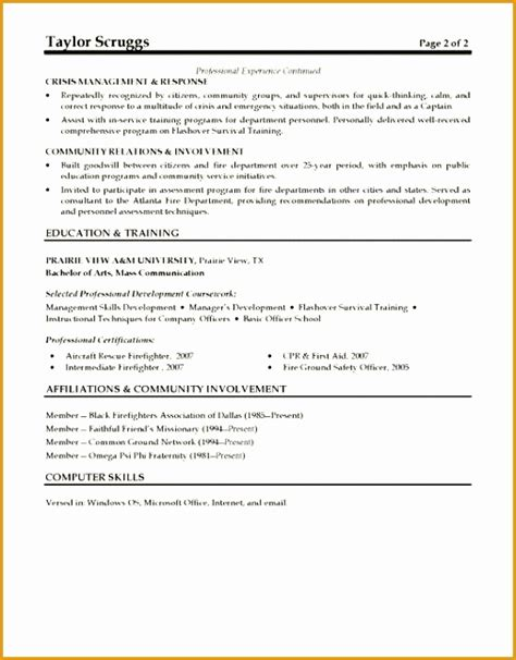 Cosmetologist Description For Resume by 9 Captain Resume Exle Free Sles Exles