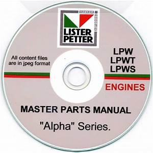 Lister Petter Lpw  Lpwt  Lpws Master Parts Manual On Cd