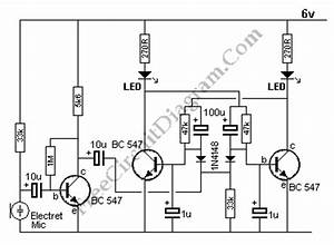clap triggered switch circuit diagram world With clap on off switch