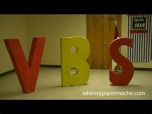how to make giant paper mache vbs letters for your church With giant paper letters