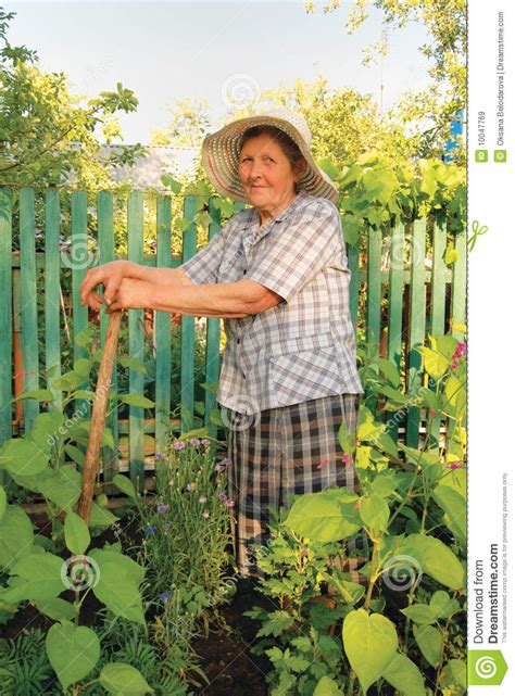 woman working   garden stock image image