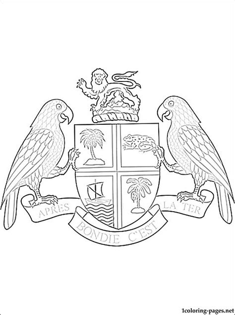 dominica coat  arms coloring page coloring pages