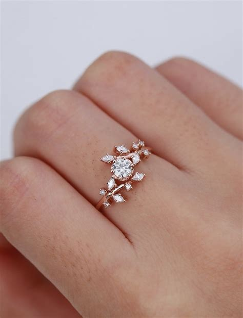 gold wedding ring etsy 8 stunning engagement rings from etsy that cost less than 1 000 intimate weddings small