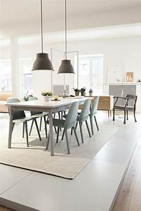 interieur moderne inspirations scandinaves With salle À manger contemporaine avec voilage style scandinave