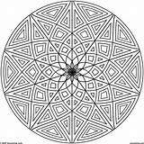 Geometric Coloring Pages Adults Printable Getdrawings sketch template