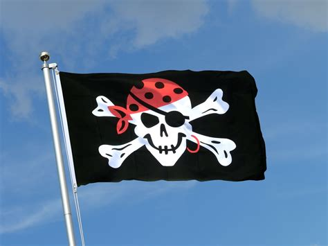 Drapeau Pirate One Eyed Jack  90 X 150 Cm  M Drapeaux